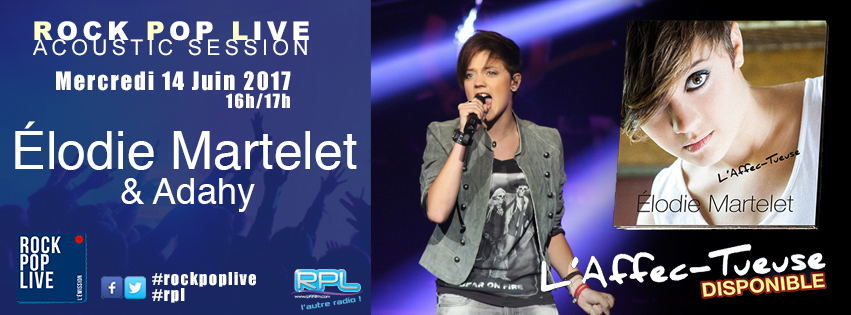 Elodie Martelet et Adahy dans Rock Pop Live